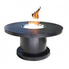 "42"" Round Venice Outdoor Chat Firepit by Cabana Coast - Dark Rum"