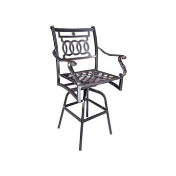 Verona Dining by Cabana Coast - Swivel Bar Chair - Black