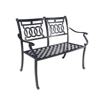 Verona Dining by Cabana Coast -  Loveseat Bench - Black