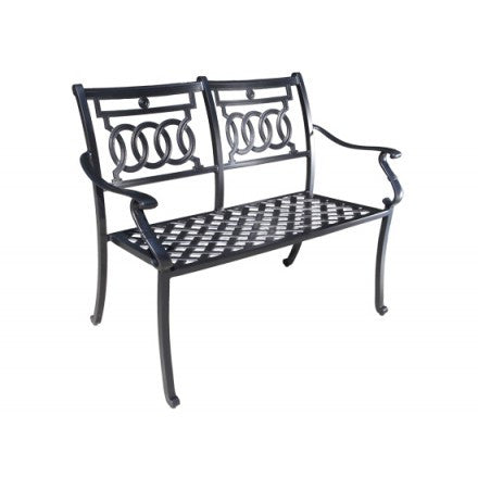 Cabana Coast Verona Loveseat Bench - Black