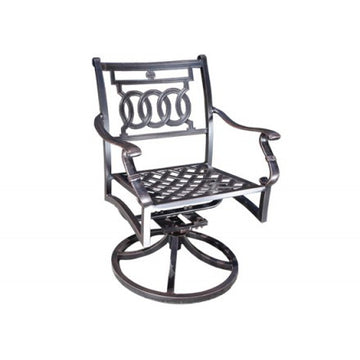 Verona Dining Swivel Rocker by Cabana Coast - Black