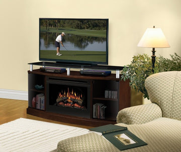 Windham Media Console Electric Fireplace- Mocha