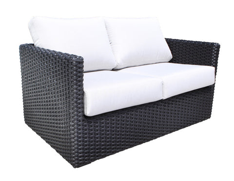 York Deep Seat Loveseat by Cabana Coast - Black