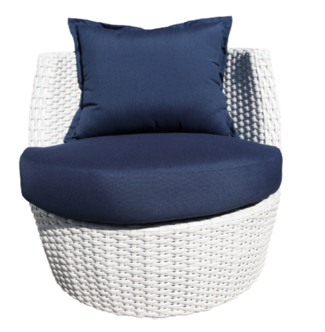 Zen Accent Chair Pearl Frame Front View