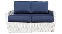 Zen Loveseat Pearl Frame Front View