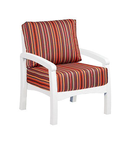 Bay Breeze Coastal Deep Seat Chair White #02
