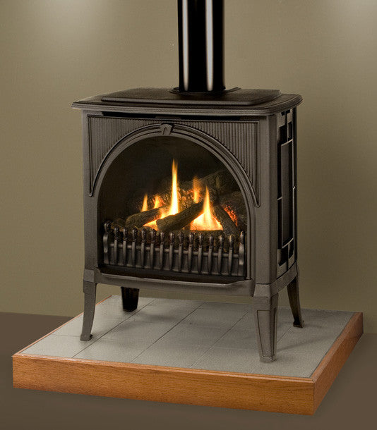 Valor Madrona Traditional Freestanding Gas Fireplace - Log Set