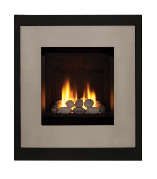 Valor Ledge Portrait Gas Fireplace - Rock Set