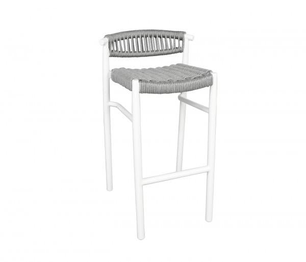 Cabana Coast Breezeway Balcony Stool. Rope Outdoor Patio Bar Furniture.