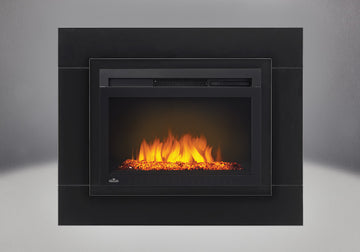 "24"" Cinema Glass Napoleon Electric Fireplace"