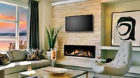 Marquis Serene Gas fireplace below a mounted television