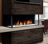 Marquis' Enclave Gas fireplace with glass ember bed