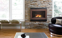 Valor Direct Vent H4 Series Gas Fireplace - Log Set / Bronze Surround