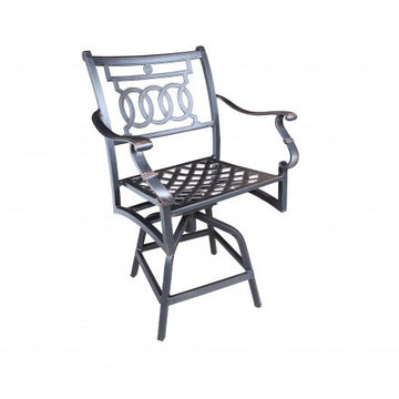 Verona Dining by Cabana Coast - Swivel Counter Stool - Black