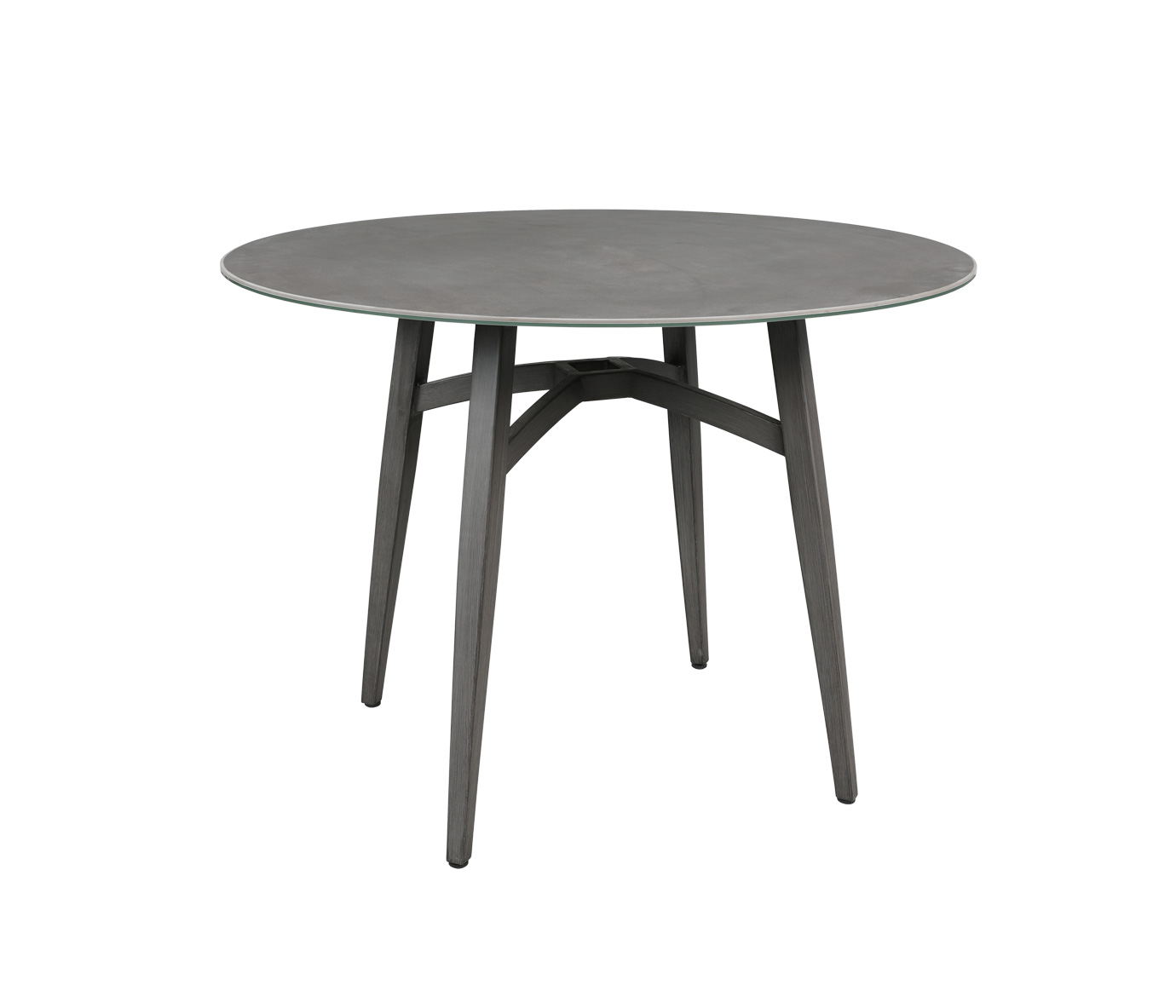 Gramercy Ceramic 40 Round Dining Table Patio Palace