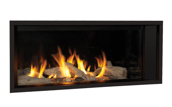 Valor L1 Linear Series Gas Fireplace - Driftwood Set
