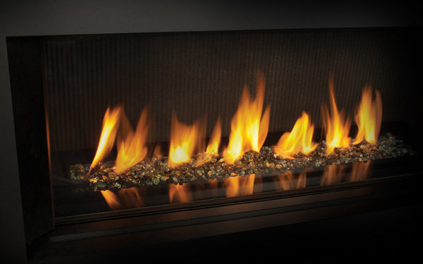 Valor L1 Linear Series Gas Fireplace - Glass Set