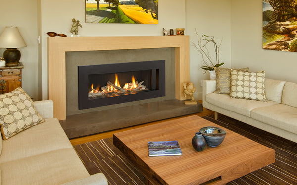 Valor Direct Vent L2 Linear Series Gas Fireplace - Driftwood Set