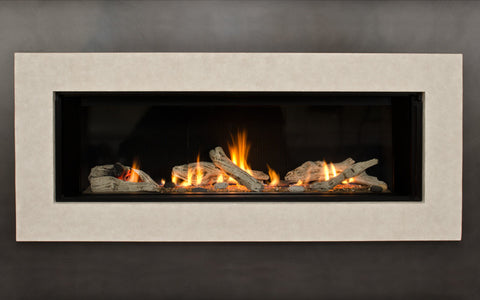 Valor Direct Vent L2 Linear Series Gas Fireplace - Driftwood
