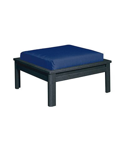 Recycled Plastic Stratford Large Ottoman Black # 14