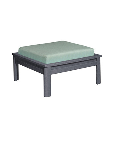 Recycled Plastic Stratford Large Ottoman Slate Grey #18