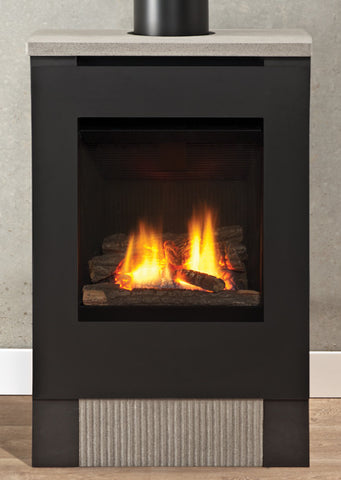 Valour Lift Freestanding Stove Gas Fireplace - Log Set