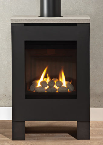 Valor Lift Freestanding Stove Gs Fireplace - Rock Set