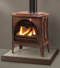 Valor Madrona Traditional Freestanding Gas Fireplace - Log Set , Bronze Finish