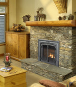 Valor Direct Vent Horizon Series With Double Doors Gas Fireplace - Log Set