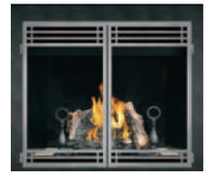 Napoleon HD40 Clean Face Gas Fireplace With Double Doors