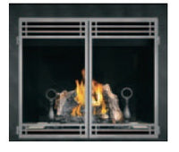 Napoleon HDX40 Clean Face Gas Fireplace With Double Doors