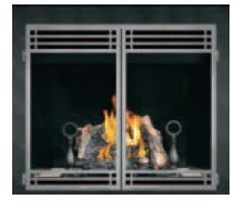 Napoleon HD46 Clean Face Gas Fireplace With Double Doors
