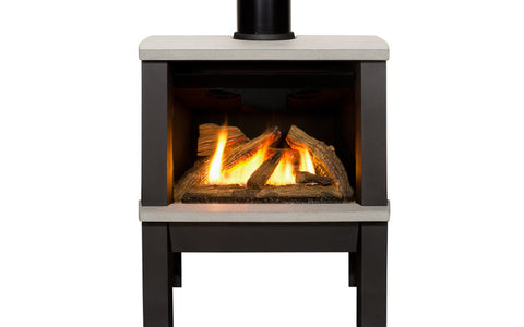 Valor Madrona Freestanding Stove Gas Fireplaces - Log Set