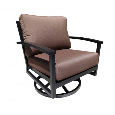 Cabana Coast - Oasis Deep Seat Swivel Rocker - Dark Rum