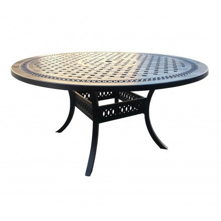 "Pure Dining Table  by Cabana Coast - 60""  Round Table - Black"