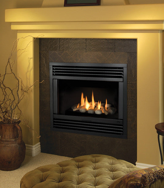 Valor Direct Vent Horizon Series Gas Fireplace - Rock Set