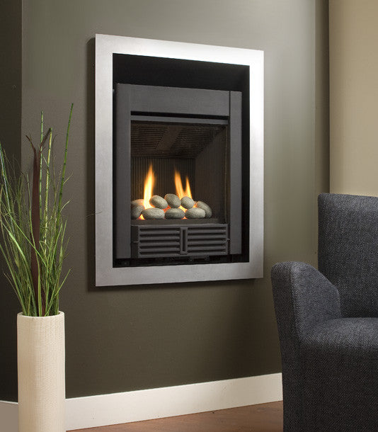 Valor Portrait Freestyle Gas Fireplace - Rock Set
