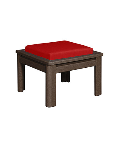 Recycled Plastic Stratford Ottoman Chocolate # 16