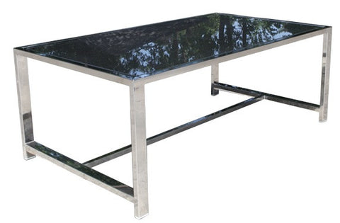 "Cabana Coast Soho Deep Seat 44"" Rectangular Coffee Table - Stainless Steel"