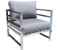 Cabana Coast Soho Deep Seat Lounge Chair - Stainless Steel