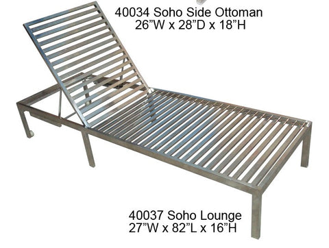 Cabana Coast Soho Deep Seat Chaise Lounge - Stainless Steel