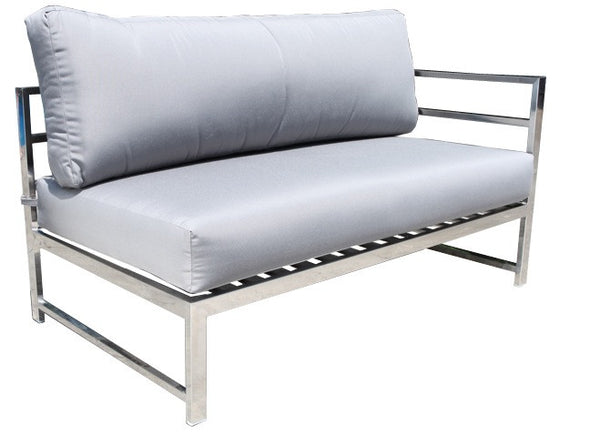 Cabana Coast Soho Sectional Right Loveseat Module - Stainless Steel