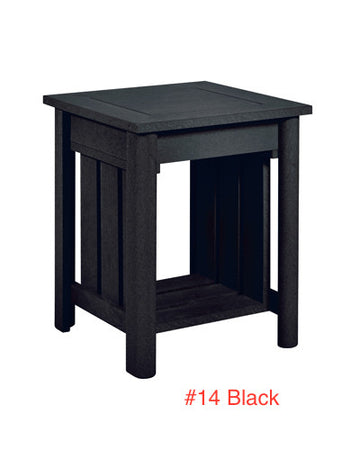 "Recycled Plastic Stratford 19"" Square End Table"