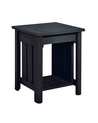 "Recycled Plastic Stratford 19 "" Square End Table Black # 14"