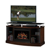 Dimplex Windham Media Console Electric Fireplace With Log Set | Patio Palace