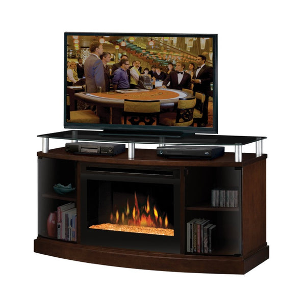 Dimplex Windham Media Console Electric Fireplace With Glass | Patio Palace