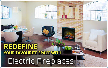 Redefine one or many or your favourite spaces with a gorgeous electric fireplace.