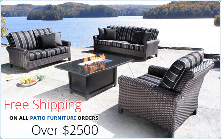 Free Shipping on all Patio Furniture orders over $1000