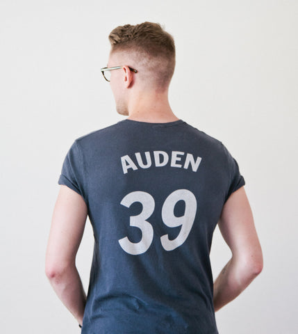 Men's Baseball Tee: W. H. Auden #39