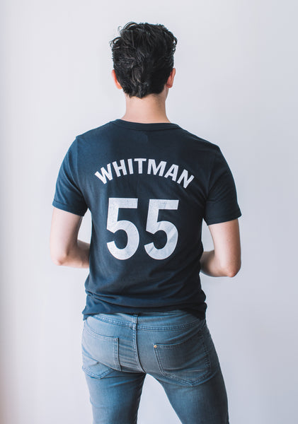 Men's Baseball Tee: Walt Whitman #55